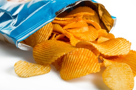 Photo pour a bag of chips - image libre de droit
