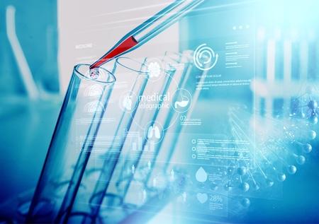 Foto de Technologies in science and medicine . - Imagen libre de derechos