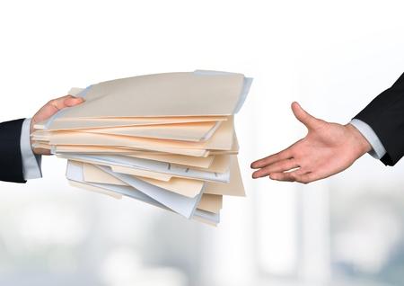 Foto de Handing File Folder - Imagen libre de derechos