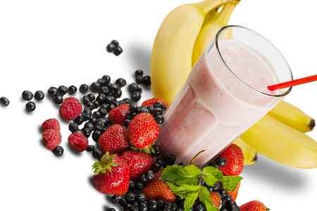 Foto de Strawberry Smoothie with Fruits - Imagen libre de derechos