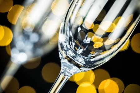 Photo for Closeup of Champagne Glasses and Bottle - Royalty Free Image