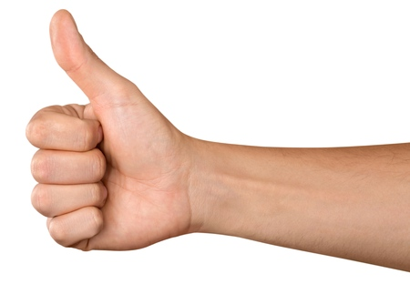Photo for Hand Showing Thumbs Up - Royalty Free Image
