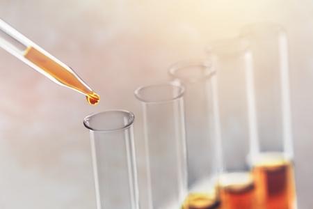 Foto de Close up test tube in lab - Imagen libre de derechos
