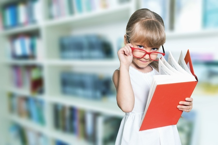 Photo for Education and school concept - little student - Royalty Free Image