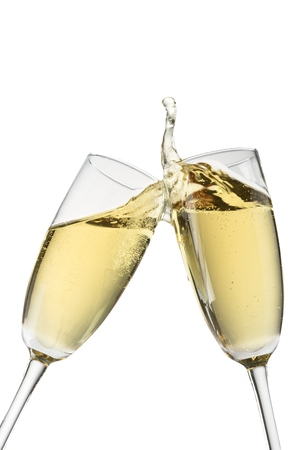 Photo for Toasting Champagne Flutes - Royalty Free Image