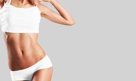 Photo for Intimate woman aesthetic abdomen beauty belly body - Royalty Free Image