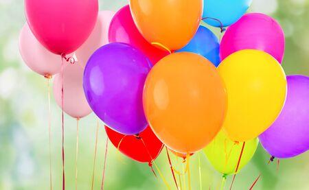 Foto de Bunch of colorful balloons on white background - Imagen libre de derechos