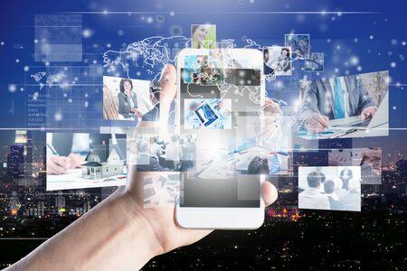 Photo pour social networking service concept.          - Image - image libre de droit