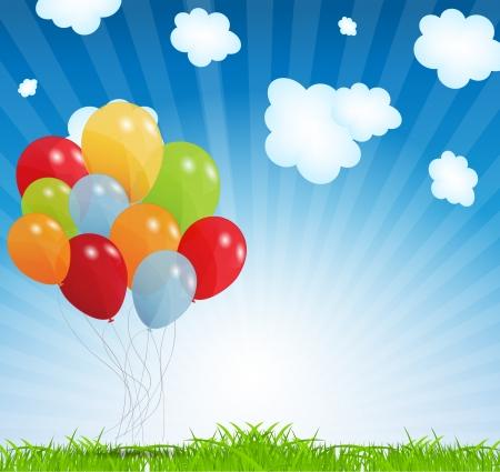 Illustration pour set of colored balloons - image libre de droit