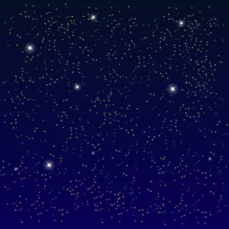 Ilustración de Space. Starry Sky with the Moon. Vector Illustration. - Imagen libre de derechos