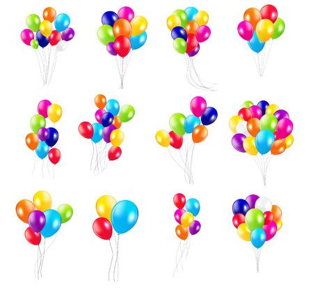 Illustration pour Color Glossy Balloons  Mega Set Vector Illustration - image libre de droit
