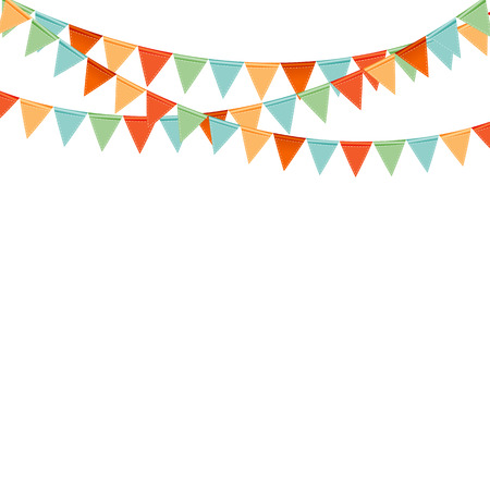 Ilustración de Party Background with Flags Vector Illustration - Imagen libre de derechos