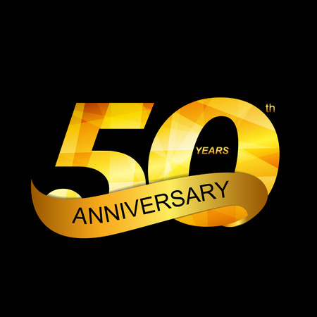 Illustration for Template Logo 50th Anniversary - Royalty Free Image