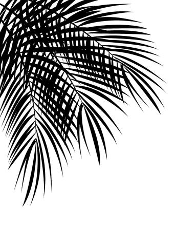 Illustration pour Palm Leaf Vector Background Isolated Illustration EPS10 - image libre de droit
