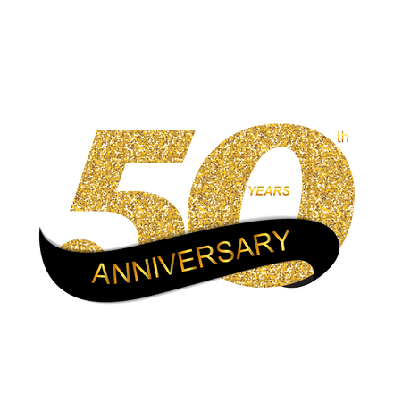 Illustration for 50th Anniversary Vector Illustration - Royalty Free Image