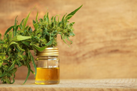 Photo pour cannabis oil and hemp - image libre de droit