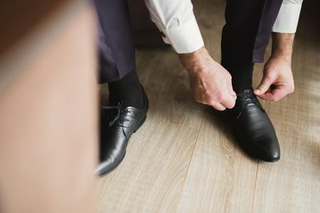 Foto de Set of mans fashion shoes and accessories - Imagen libre de derechos