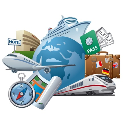 Foto de Travel and tourism concept icon - Imagen libre de derechos