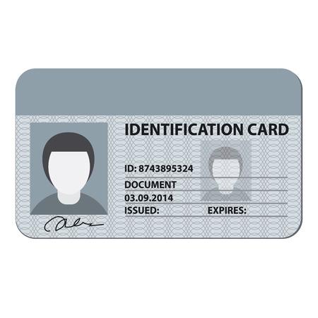 Illustration pour identification card - image libre de droit