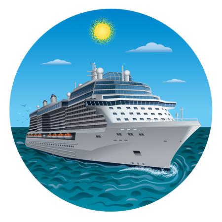 Illustration pour cruise ship - image libre de droit