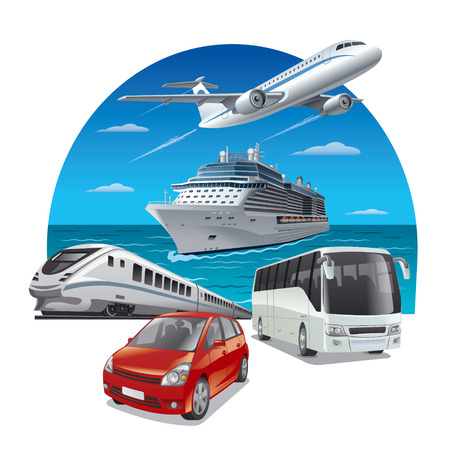 Illustration for travel transport - Royalty Free Image