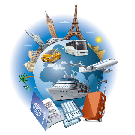 Illustration pour travel business - image libre de droit