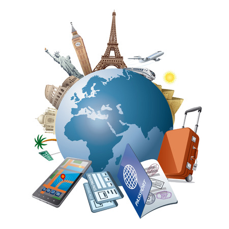 Illustration pour travel - image libre de droit
