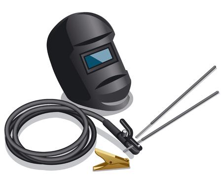Ilustración de illustration of equipment for welding works - Imagen libre de derechos