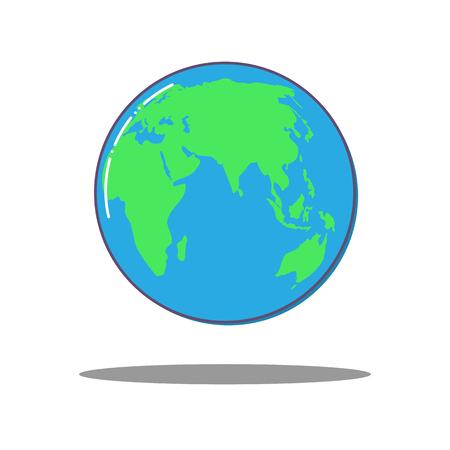 Illustration pour Flat dlobal world icon, vector Earth. - image libre de droit