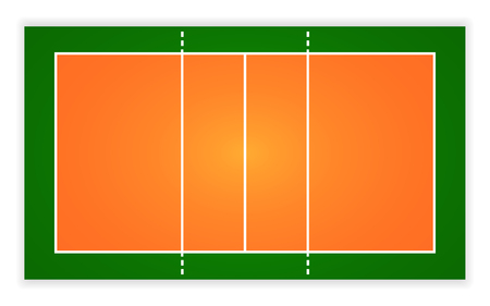 Illustration pour An illustration of an aerial view volleyball court. - image libre de droit