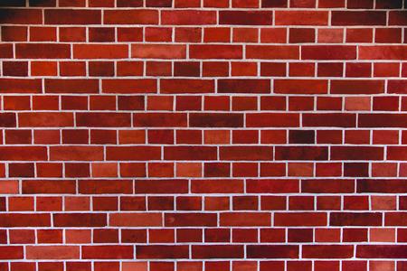 Photo pour Red brick wall artistic background, regular texture - image libre de droit