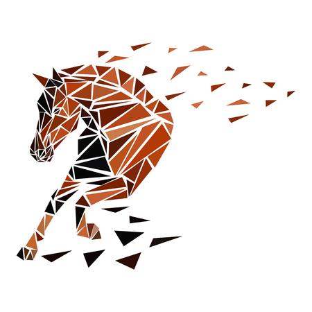 Ilustración de Galloping horse, particles - Imagen libre de derechos