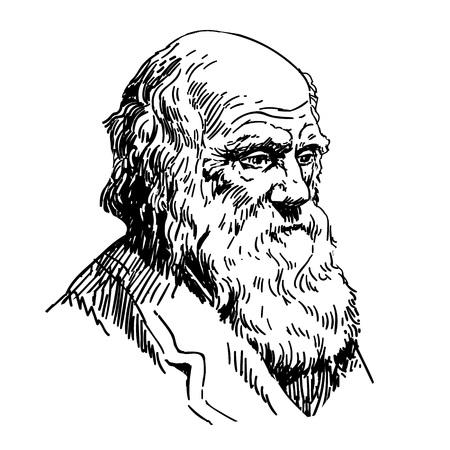 Illustration pour Charles Robert Darwin - image libre de droit