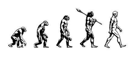 Illustration pour Evolution of man - image libre de droit