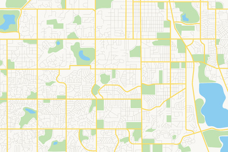 Illustration pour streets on the plan - vector city - image libre de droit