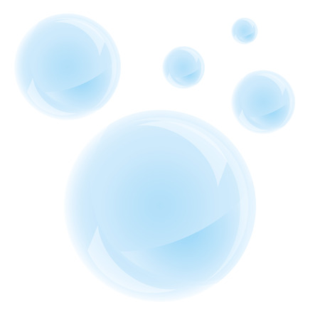 Illustration pour Soap bubbles on a white background. Vector, isolated objects - image libre de droit