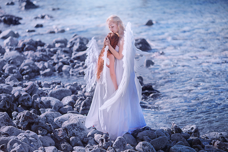 Photo for Angels on the beach - Royalty Free Image