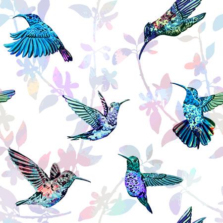 Illustration pour Beautiful colorful tropical endless background for different projects. - image libre de droit