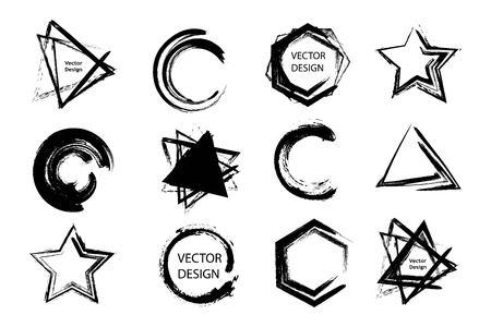 Illustration pour Brush abstract design elements for different projects - image libre de droit