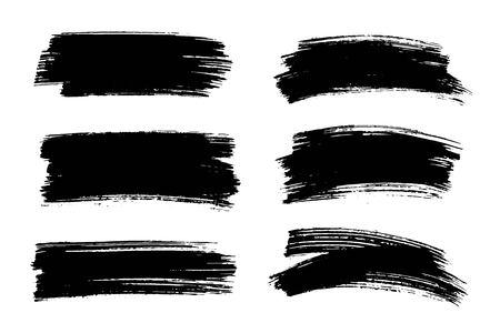 Ilustración de Vector black paint, ink brush stroke, texture. - Imagen libre de derechos
