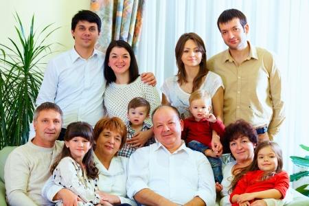 Photo pour big family at home - image libre de droit