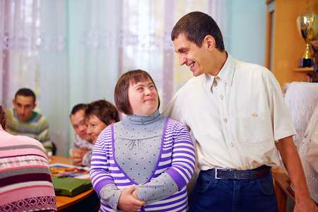 Foto de happy people with disability in rehabilitation center - Imagen libre de derechos