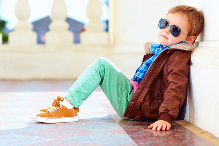 Photo for portrait of fashionable boy near the wall - Royalty Free Image