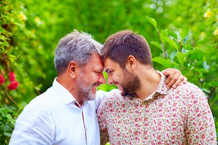 Photo for portrait of happy father and son, that are similar in appearance - Royalty Free Image
