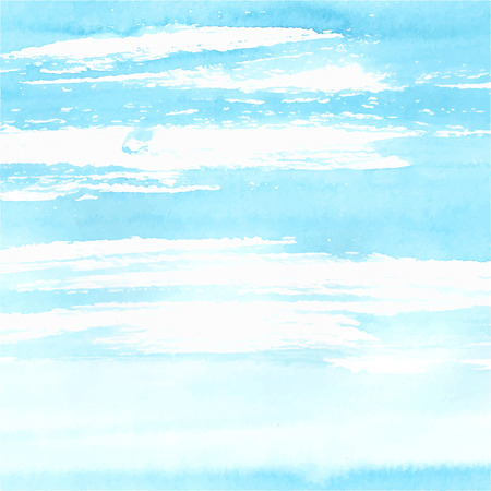 Illustration pour Watercolor sea or sky background made in vector. - image libre de droit