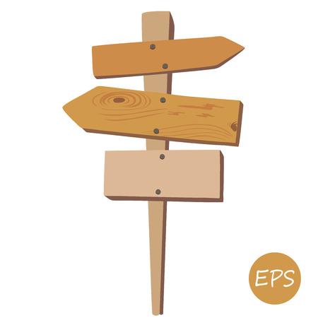 Illustration pour Vector illustration of  the Old wooden signpost. - image libre de droit