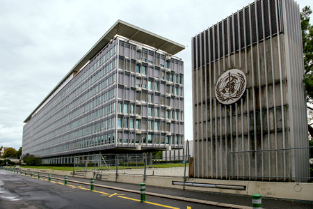 Photo pour Building of the World Health Organization (WHO) in Geneva, Switzerland, specialized agency of the United Nations that is concerned with international public health - image libre de droit