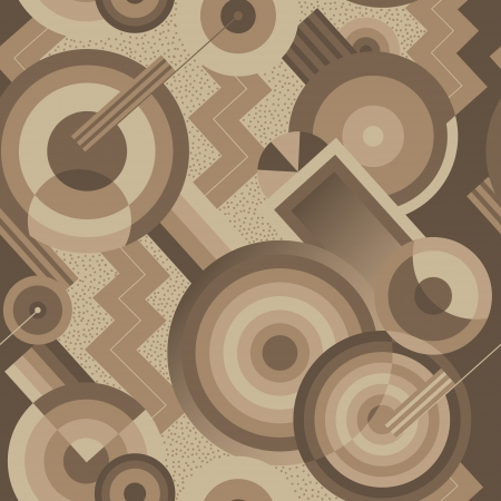 Illustration for Seamless geometric pattern in retro style Art Deco - Royalty Free Image