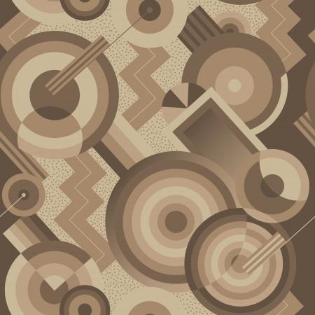 Ilustración de Seamless geometric pattern in retro style Art Deco - Imagen libre de derechos