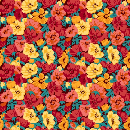 Illustration for Floral pattern seamless retro - Royalty Free Image